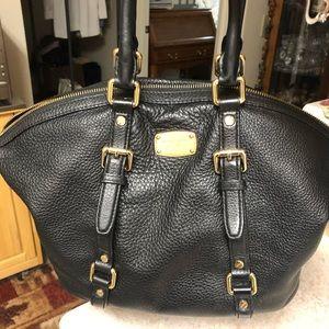 Michael Kors Black pebble leather handbag.
